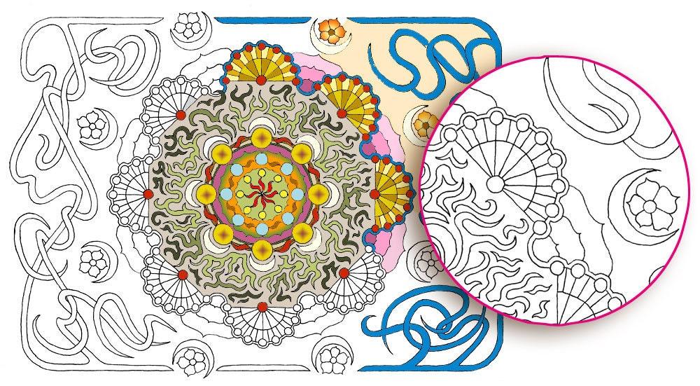 """Monoline Mandala"" — Printable Adult Coloring Page PDF Digital Instant Download"