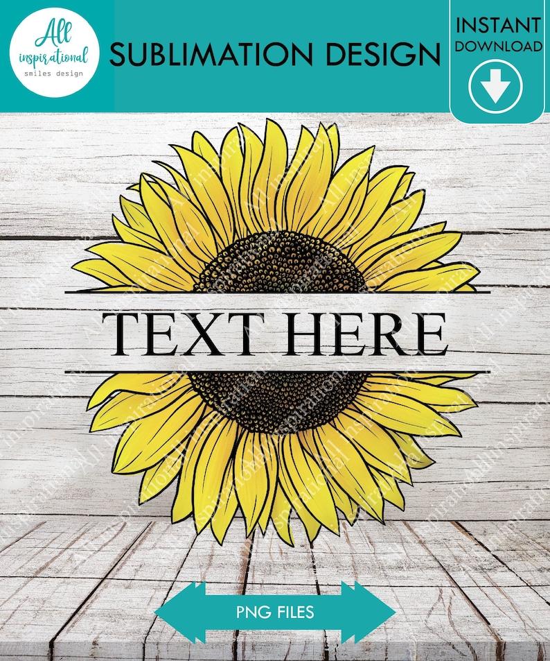 Sunflower transfer file Summer Tshirt design digital file Split Sunflower Sublimation Design Printable Art Split Sunflower PNG