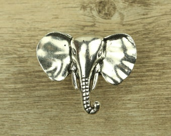 Silver Elephant Drawer Knobs / Elephant Cabinet / Gothic Home Decor /  Animal Shaped Drawer Knobs / Furniture Hardware,Z 022