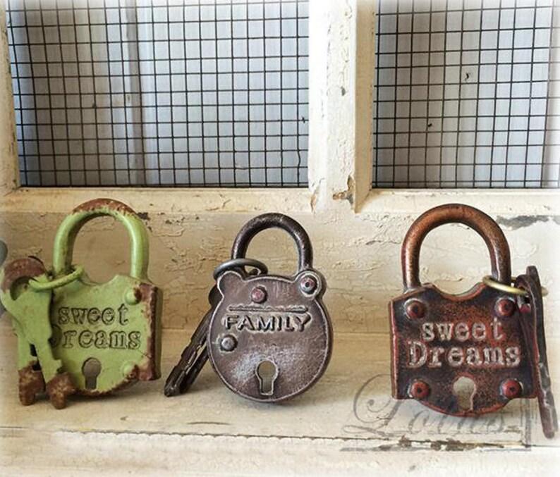 Antique Lock Key Knobs Drawer Knob, Kitchen Cabinet Knob Locks