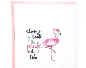 Breast Cancer Card, Flamingo Card, Breast Cancer Gift, Cancer Card Friend, Cancer Patient, Cancer Support Card, Chemo Card, Uplifting Card