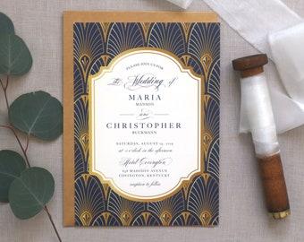 Items Similar To Letterpress Wedding Invitation Formal Wedding