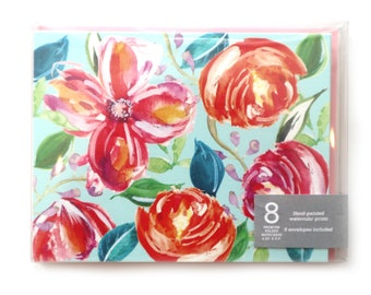 Notecards // Note Cards // Boxed Notecards // Blank Notecards // Floral Note Cards // Thank You Cards // Modern Notecards // Stationery