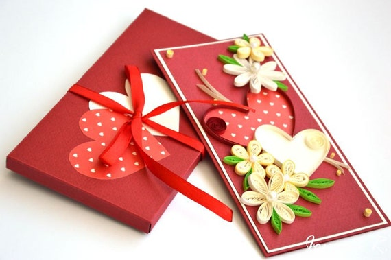 Valentine Quilling Card Quilling Cards Greeting Cards Etsy