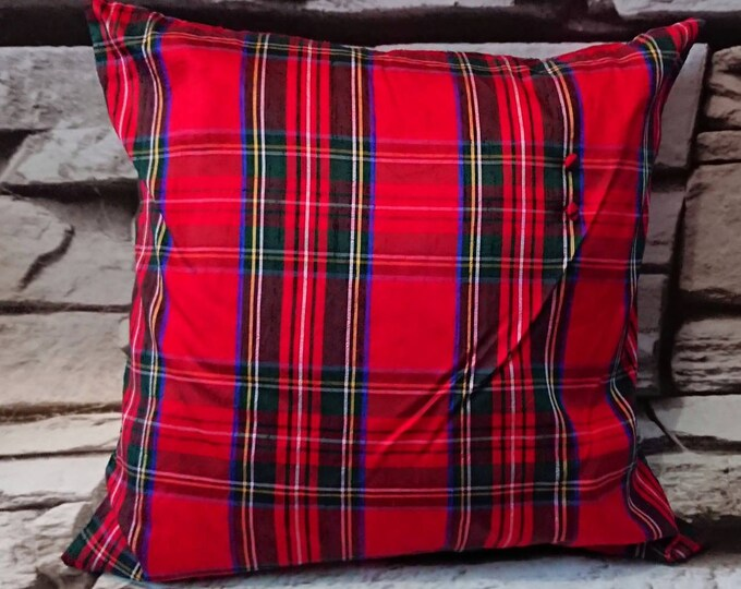 SALE ** Tartan pure silk cushion