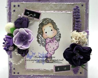 Divine Angel Tilda Birthday Card - Magnolia Handmade Card