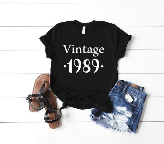 6b7fe137 Vintage 1989 Shirt Birthday Shirt Dirty Thirty Shirt   Etsy