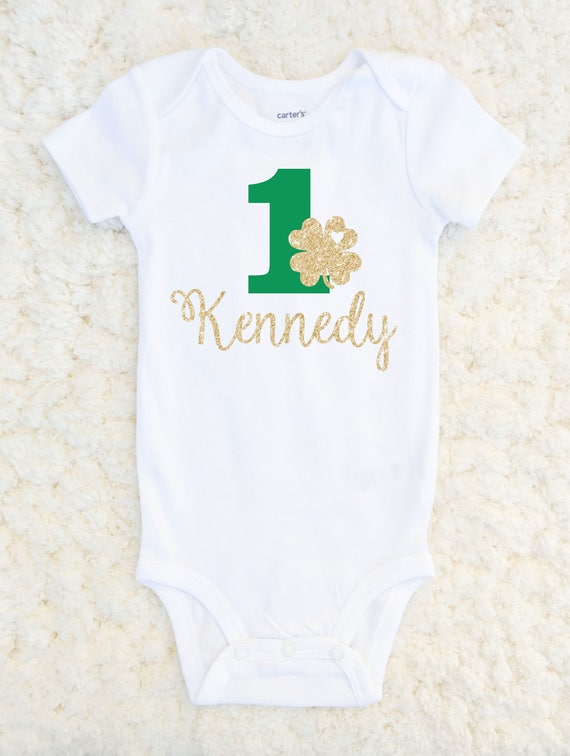 Shamrock First Birthday Outfit Girl Shirt
