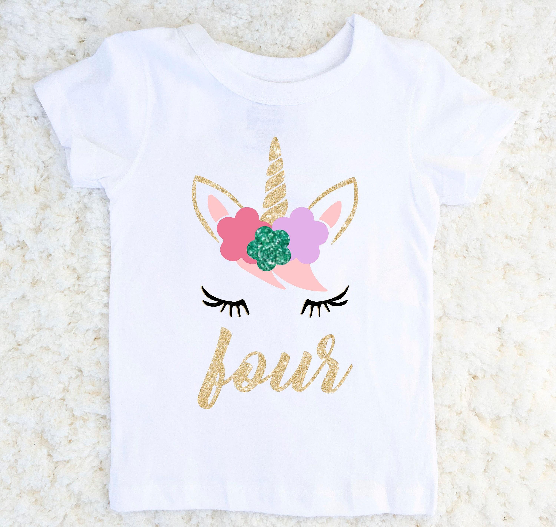 Unicorn Birthday Outfit Girls Fourth