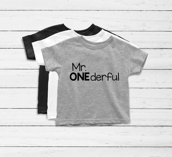 Mr Onederful Birthday Shirt First Boy Outfit