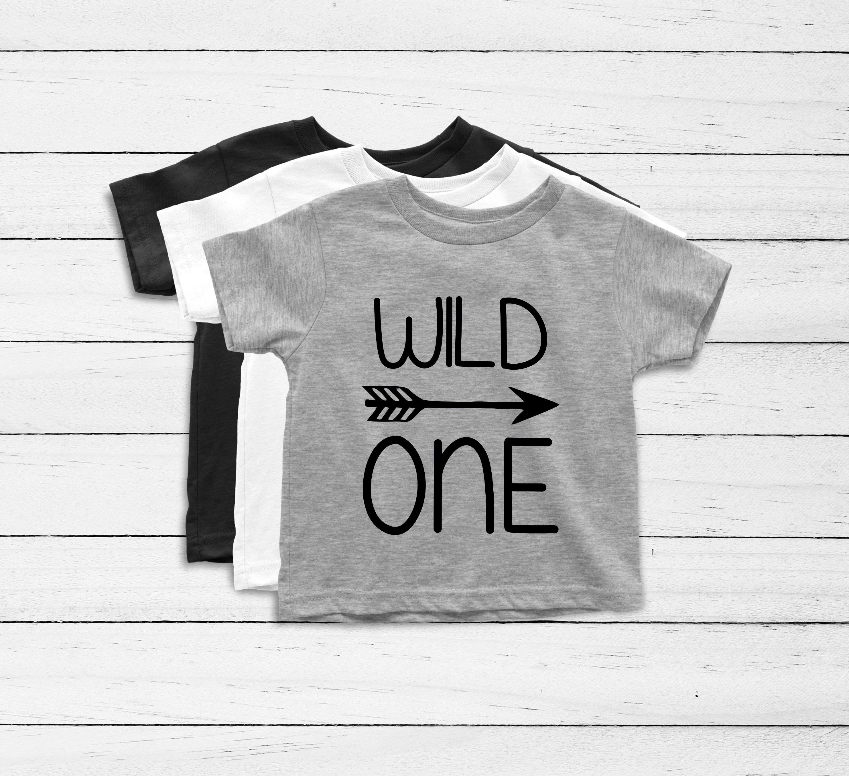 Wild One First Birthday Shirt Boy