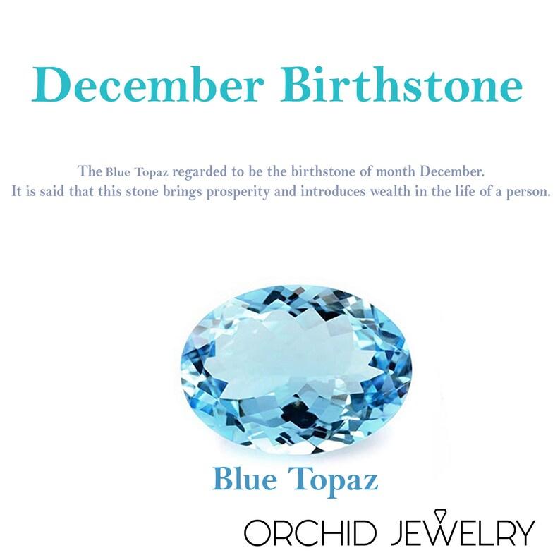 December Birthstone Blue Topaz Round Shape Gemstone Garnet Earrings Handmade Sterling Silver Stud Earrings For Women Anniversary Gift.