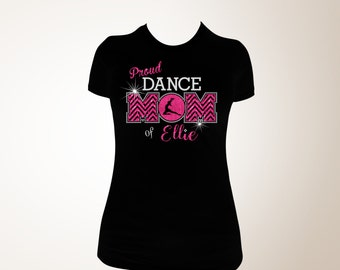 proud dance mom t shirt dance mom bling shirt dance mom etsy. Black Bedroom Furniture Sets. Home Design Ideas