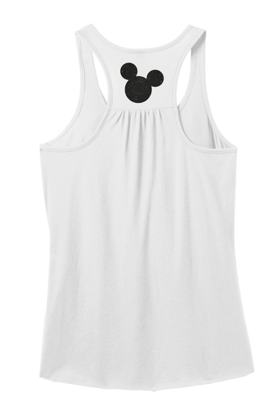 Glitter Mickey Mouse Adulte Nageur Debardeur T Shirt Mickey Etsy