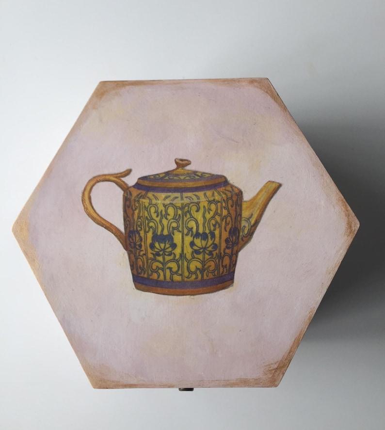 storage box elegant box secret box gift box souvenir box Tea pot Tea bags box wooden box