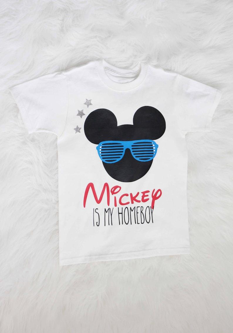 Mickey is my homeboy boys shirt Mickey mouse shirt boys | Etsy