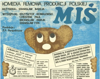 MIS Teddy Bear Original Polish Movie Poster- cool Cieslak artwork '81