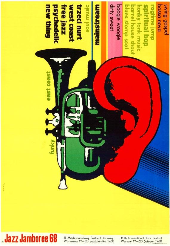 Plakat Muzyczny Jazz Zloty 68 Zelek Artwork