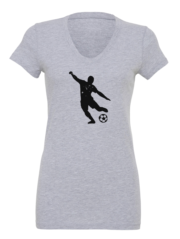 96addd044 Women's Soccer Player Shirt, Soccer Printed Shirt, Women's Soccer ...