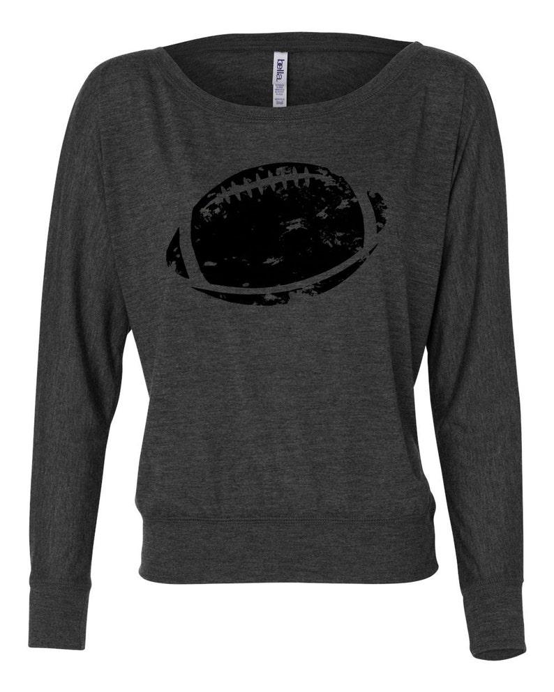 a35621ac626e3 Women s Long Sleeve Football Shirt Off the Shoulder