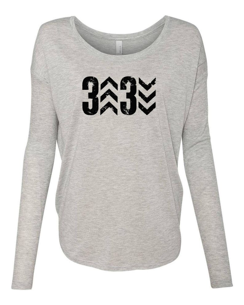 8752ad41 Women's Long Sleeve 3 Up 3 Down Baseball Shirt Flowy | Etsy