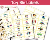 Toy Bin Labels (Yellow) - Printable for Classroom or Playroom Baskets & Shelves