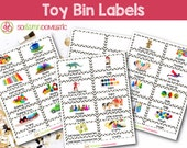 Toy Bin Labels (Gray) - Printable for Classroom or Playroom Baskets & Shelves