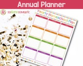 Annual Homeschool Planning Sheet