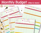 Monthly Budget Printable Planners