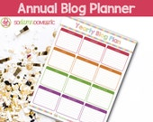 Annual Blog Planning Sheet