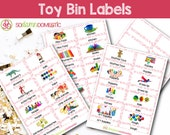 Toy Bin Labels (Pink) - Printable for Classroom or Playroom Baskets & Shelves