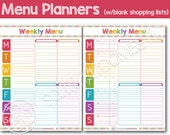 Menu Planner / Meal Planning Printable with Grocery List