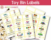 Toy Bin Labels (Yellow) -...