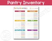 Pantry Food Inventory Printable