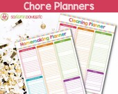 Homemaking / Cleaning / Chore Printable Planners