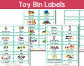 Toy Bin Labels (Turquoise...