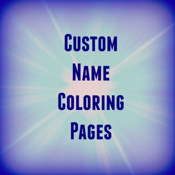 31 Printable Name Coloring Pages / Color Your Name / Custom / Etsy