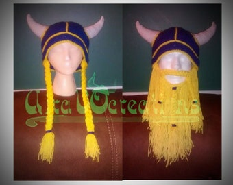 super popular 4083d 93f52 ... greece child size viking hat ages 5 12 minnesota vikings hat with  braids or beard a2634 ...