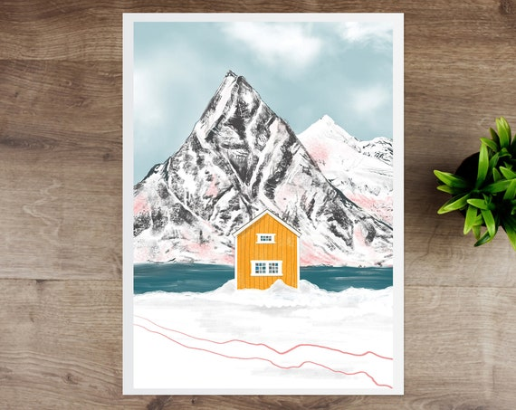 Yellow Cabin Giclee Print | A4 / A3