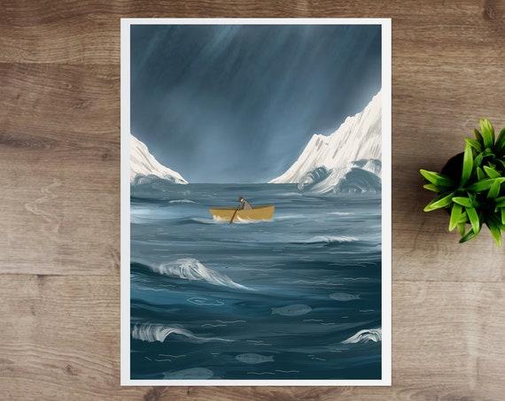 Sad Sailor Giclee Print