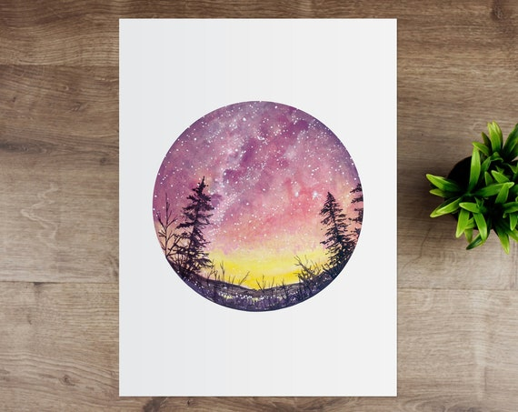 Pink Sunset Giclee Art Print