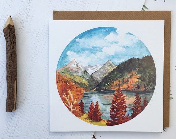Rocky Mountains in Fall Card