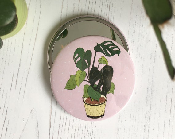 SECONDS / Monstera Pocket Mirror