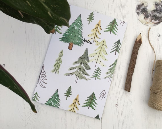 Recycled A5 Forest Print Notebook