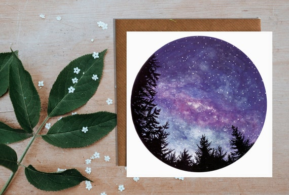 Night Sky in New Zealand Greetings Card