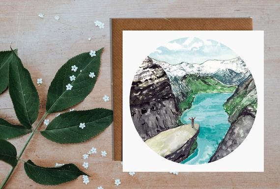Trolltunga Norway Greetings Card