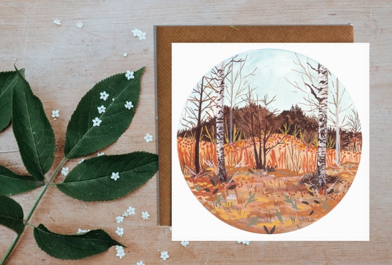Swedish Birch Forest Greetings Card