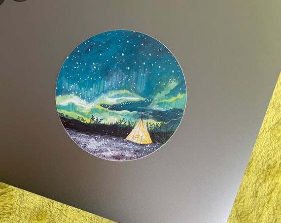 NEW Tipi Camping Sticker