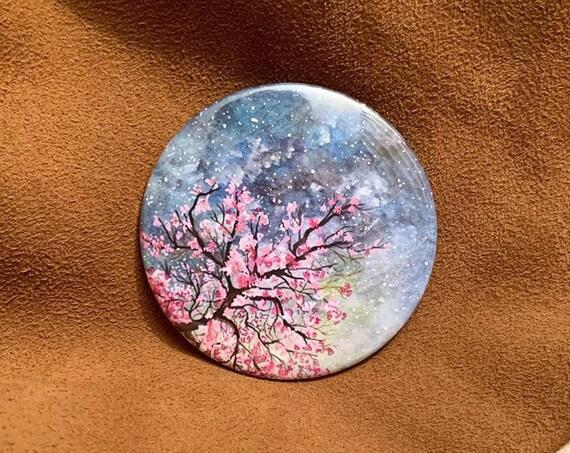 Cherry Blossom Pocket Mirror