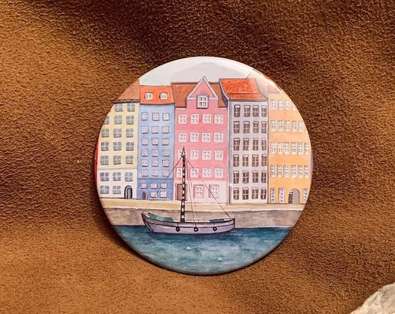 Copenhagen Nyhavn Pocket Mirror
